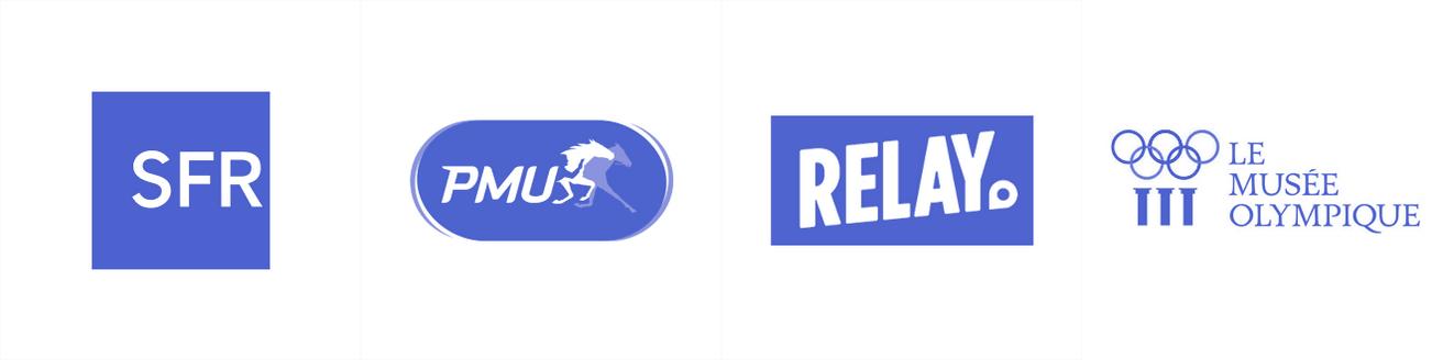 logos sfr pmu relay le musee olympique studio fairly
