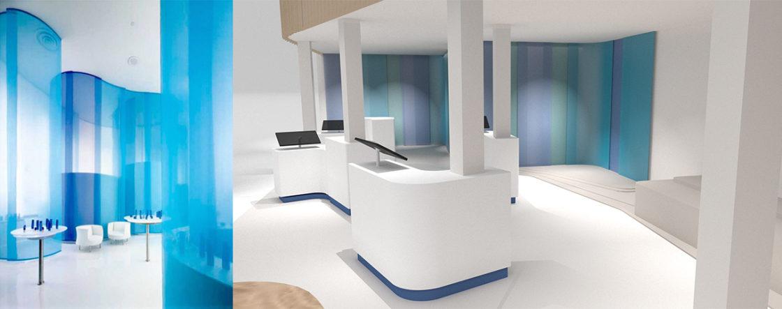 fairly domo mise en avant mur color block 3D inspiration